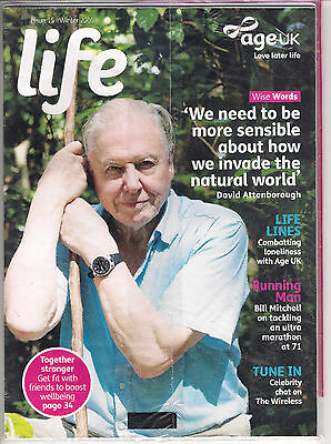 age uk life  winter 2016 issue 15 Sir David Attenborough (new sealed)