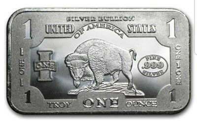 .999 silver bullion BUFFALO 1OZ BARS X 90