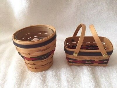 Longaberger 2001- 2 Mini Baskets with Candle-see pictures