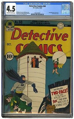 Detective Comics #68 CGC 4.5 2nd Appearance of Two Face; 1st Two Face Cover VG+