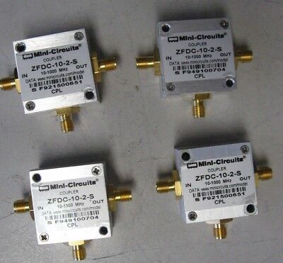 Directional Couplers 10 - 1000 MHz 30 dB Directivity qty. 4 ZFDC-10-2-S Mini-Cir