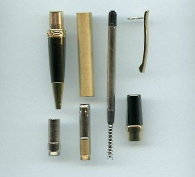 Flat Top Sierra pen kits - gold & gun metal