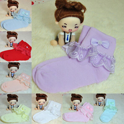 Hot Princess Bow Cute Soft Cotton Socks Children Toddlers Girls Tights
