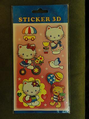 Hello Kitty 3D Sticker Aufkleber Sammelbilder Stickerbogen Tattoos Wandaukleber