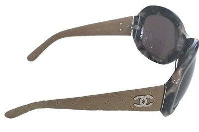 ba91a6f0bf3ad Chanel authentic brown Sunglasses with quilted handles.in the original case