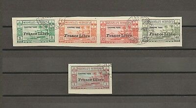 NEW HEBRIDES (French) 1941 SG FD77/81 USED Cat £200