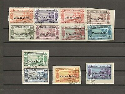 NEW HEBRIDES (French) 1941 SG F65/76 USED Cat £375