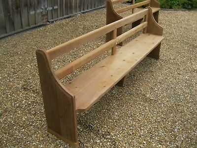VICTORIAN CHURCH PEW . Delivery Possible. IDEAL FOR USING WITH KITCHEN TABLE