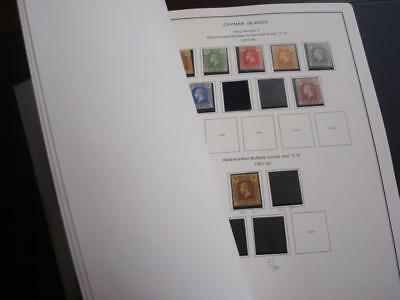 CAYMAN ISLANDS 1900-85 Stamps Collection on album pages. F-VF MH-MNH