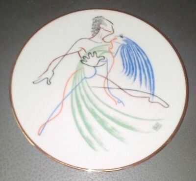 """1983 LIMITED EDIT. PORCELAIN PLATE AL HIRSCHFELD """"TWO STEP"""" BALLET Handcrafted"""