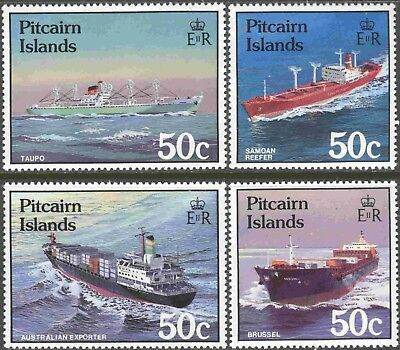 Pitcairn Islands #281-4 Complete Mint Never Hinged Set of 4 Transporter Ships