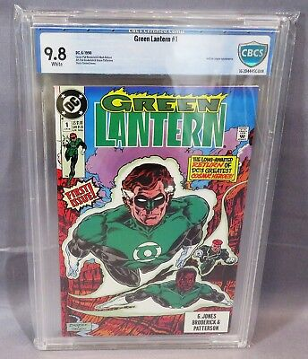 GREEN LANTERN #1 (White pages, 2nd series) CGC 9.8 NM/MT DC Comics 1990