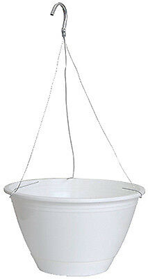 Att Southern EE1025WH 10-Inch Americana White Hanging Basket & Saucer