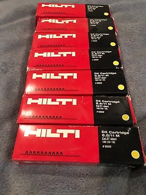 hilti dx cartridge 6.8/11 M .27 cal (yellow) 770 shots