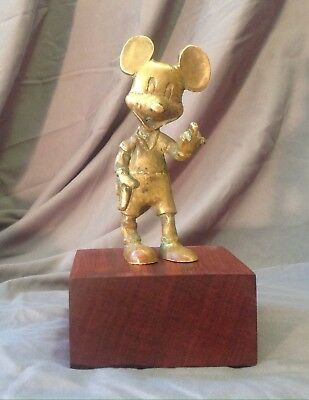 Cast Bronze Artist Rendition Of Mickey Mouse
