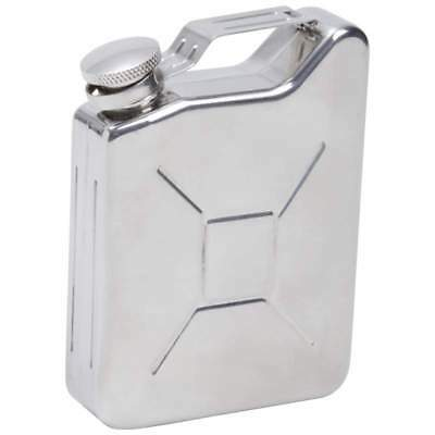 5oz FLASK Gas Can Tank Stainless Steel Screw Down Cap Hip Pocket Liquor Alcohol