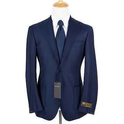 NWT Ring Jacket Balloon Navy Loro Piana S130s Wool Woven 3/2 Jacket 42R No. 254F