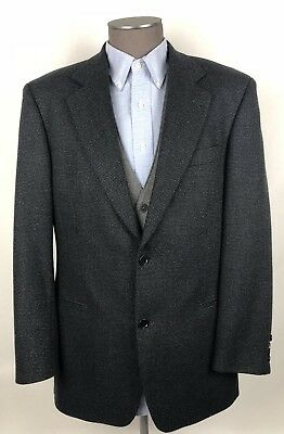 Hugo Boss Sport Coat Blazer Micro Check Black 100% Virgin Wool Mens SZ 40R C61