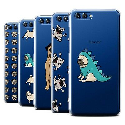 Stuff4 Hülle/Case/Backcover für Huawei Honor View 10/Niedlich Mops/Hund