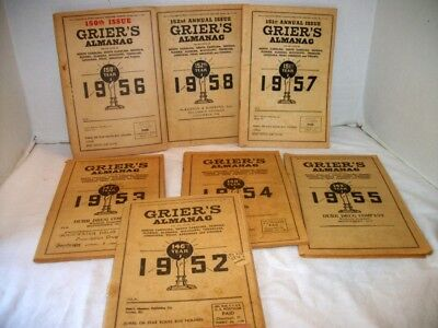 Antique Grier's Almanacs 1950's  , Seven Years, Ads, Medicine, Etc.