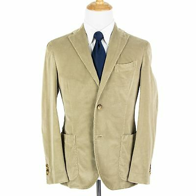 NWT Boglioli Tan Corduroy Vented Patch Pkts Unstructured 2Btn Jacket 38R +Hanger