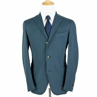 NWT $1075 Boglioli Blue Cotton Hopsack Washed Vented Unstructured 3/2 Jacket 42R