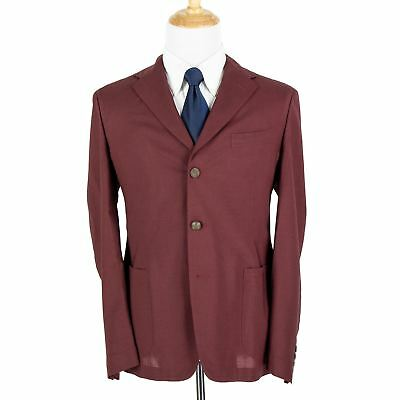 NWT $1450 Boglioli Maxton Ruby Red Wool Silk Fresco Unstructured 3Btn Jacket