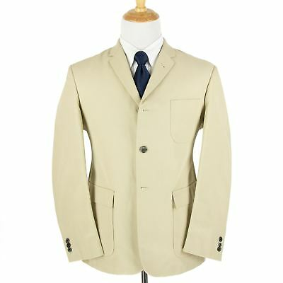 NWOT Brooks Brothers Black Fleece Thom Browne Tan Cotton MOP 3Btn Jacket BB3/42R