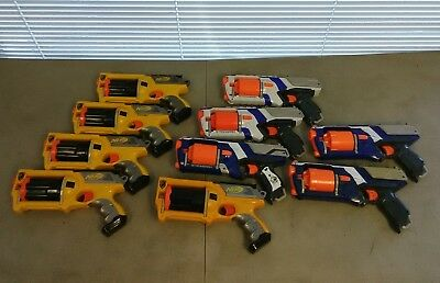Lot of 10 Nerf Gun Maverick Elite N-Force Gun Revolver Set Pistol