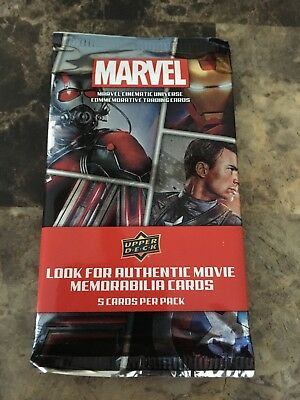 Marvel Cinematic Universe Upper Deck Trading Cards Booster Pack