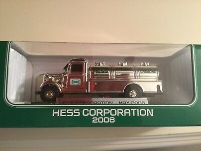 Hess 2006 Chrome Mini Tanker Rare Never sold to the Public Special Edition