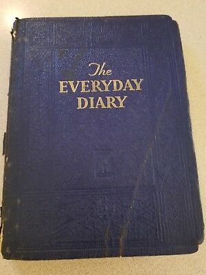 Vintage Ladies Hand Written Personal Daily Diary Journal 1933 Named