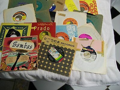 Lot of 17 Vintage 1950's and 1960's 45 RPM Records Multi Title Dance