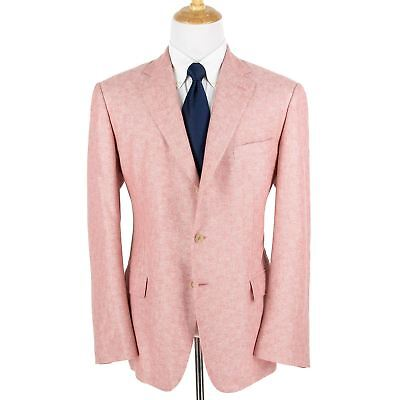 NWT $3295 Loro Piana Madrid Rose Cashmere Silk Slubby Suede Trim 3/2 Jacket 48R