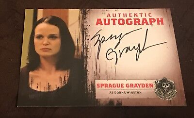 Sons Of Anarchy Autograph Trading Card Of Sprague Grayden As Donna Winston SOA
