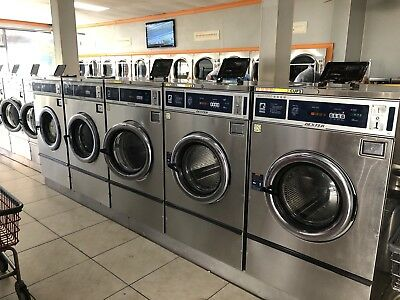 5 Dexter T-600 Front Load Washer 220 1 PH Stainless Steel Used Laundromat