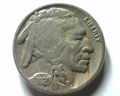 1920 Buffalo Nickel Fine+ F+ Nice Original Coin From Bobs Coins Fast Shipment
