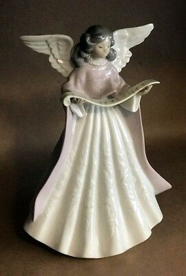 Lladro Angel Tree Topper Figurine #5831 Music Pink - MINT CONDITION COLLECTIBLE!