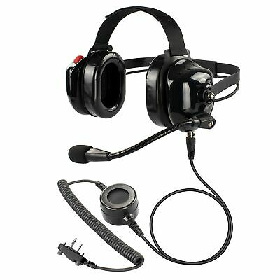 Offload Racetrack Heavy Construction Team Industrial Headset w PTT for Bearcom