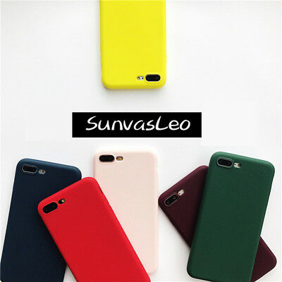 Colorful Candy Matte Soft Silicone Case TPU Cover Skin For Various Phones Models
