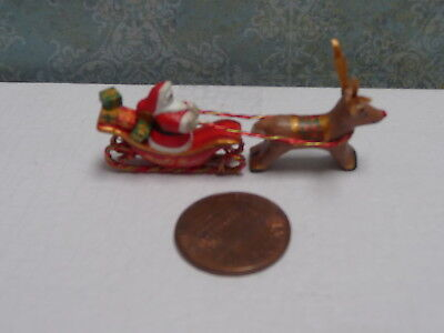 Whimsical 1:12 Miniature Santa with Toys by Maggie