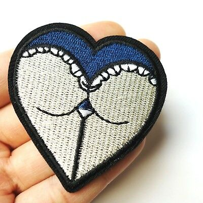 Heart Embroidered Iron On Sew On Patches Badge Bag Fabric Applique DIY CraJF ER