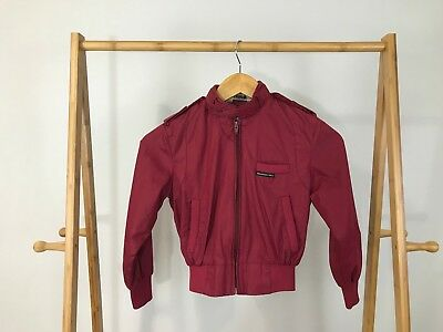 Members Only Boy's Vintage Full Zip Cafe Racer Jacket Size Youth 8 RARE
