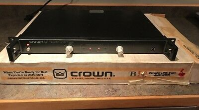 Crown Power Line Two Amplifier PL-2 With Box Great Condition Works Great