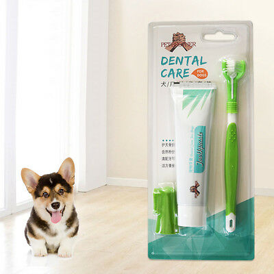 Pet Dog Cat Toothpaste Toothbrush Teeth Cleaning Oral Care Health Supplies Beamy
