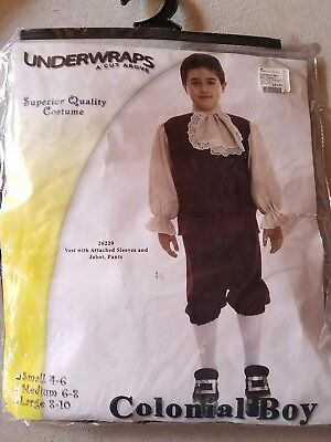 O NEW Child Underwraps Colonial Boy Halloween Costume Size S