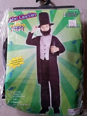 O NEW Child Forum Abe Lincoln Halloween Costume M