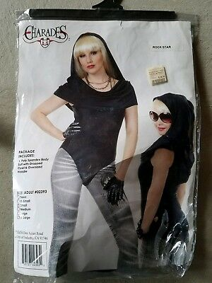 C NEW Adult Charades Rock Star Halloween Costume Size S