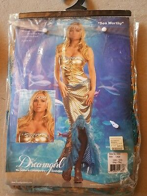 F NEW Adult Dreamgirl Sea Worthy Halloween Costume Size L