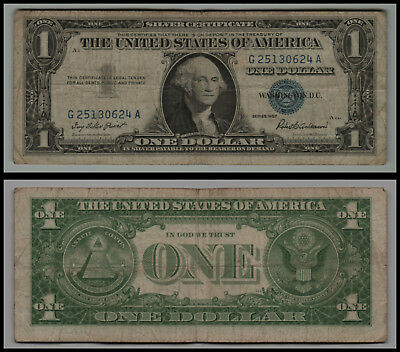 LOT OF 6 1957 $1 Blue Seal Silver Certificate Circulated Notes ...